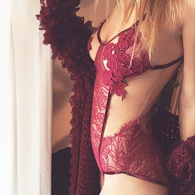 It's finally here! New @forloveandlemons collection in store now featuring this stunning lace bodysuit $225 #forloveandlemons #skivvies #lingerie #bodysuit