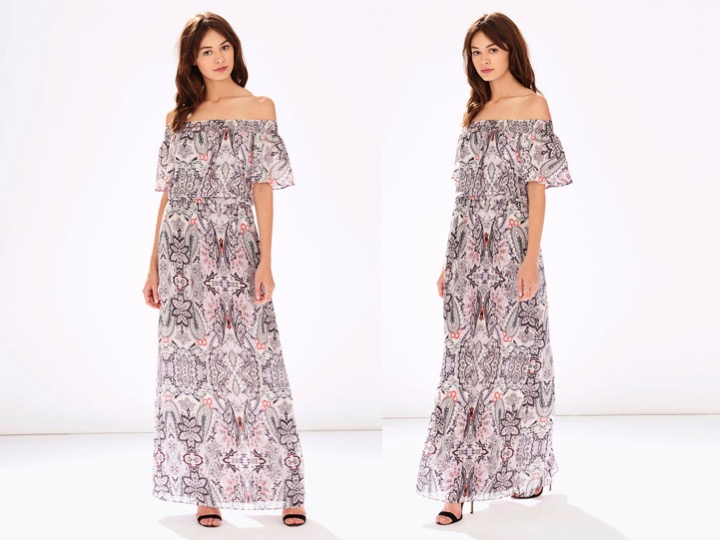 Cayman Off Shoulder Maxi Dress $368