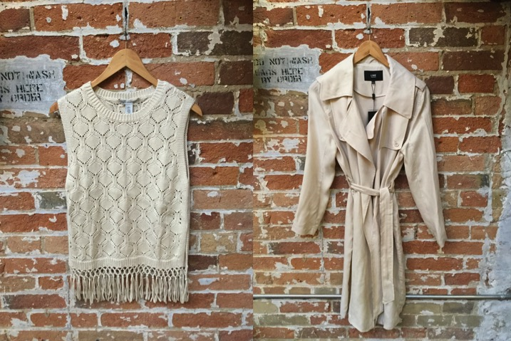Autumn Cashmere Fringe Tank $245 Line Trench $329