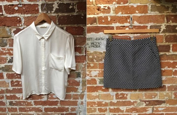 American Vintage Cropped Blouse $128 Suncoo Jacquard Mini Skirt $155