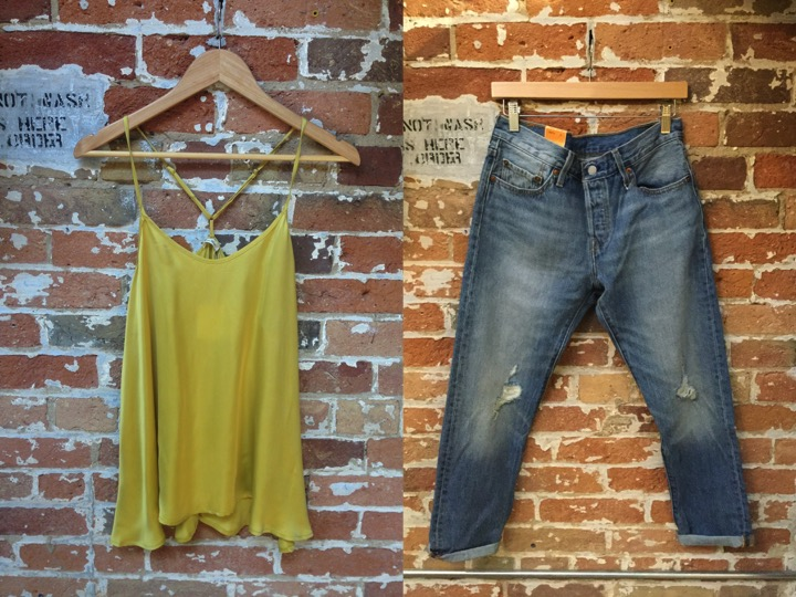 American Vintage Silk Camisole $128 Levis 501 Jeans $90