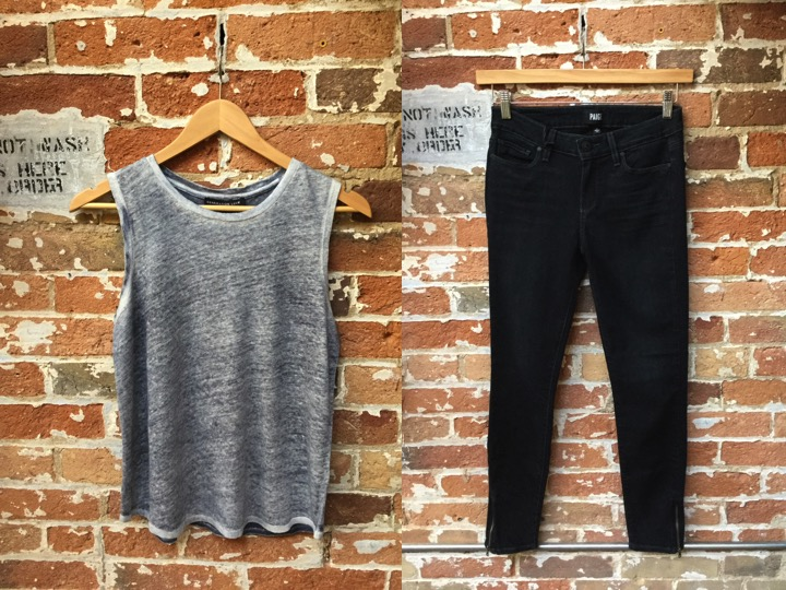 Generation Love Linen Tank $158 Paige Cropped Denim W Zippers $305
