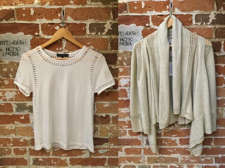 Generation Love Cutout Tee $198 Autumn Cashmere Cotton Cardigan $350