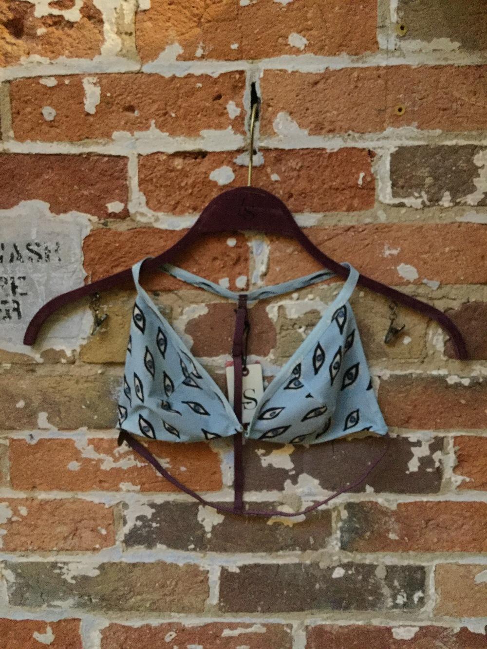 Phoenix Eye Print Bikini Top $110