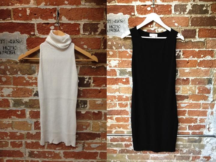 Autumn Cashmere top $180 Velvet jersey dress $268