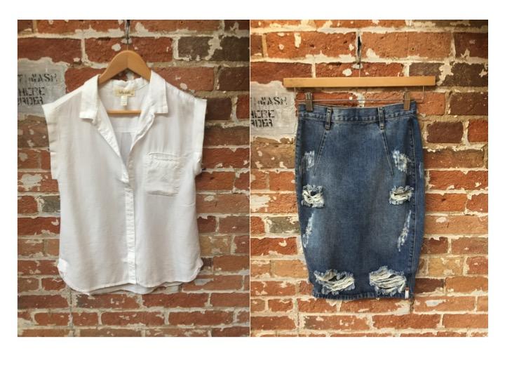 Bella Dahl Cap Sleeve Top $180 One Teaspoon Distressed Skirt $118