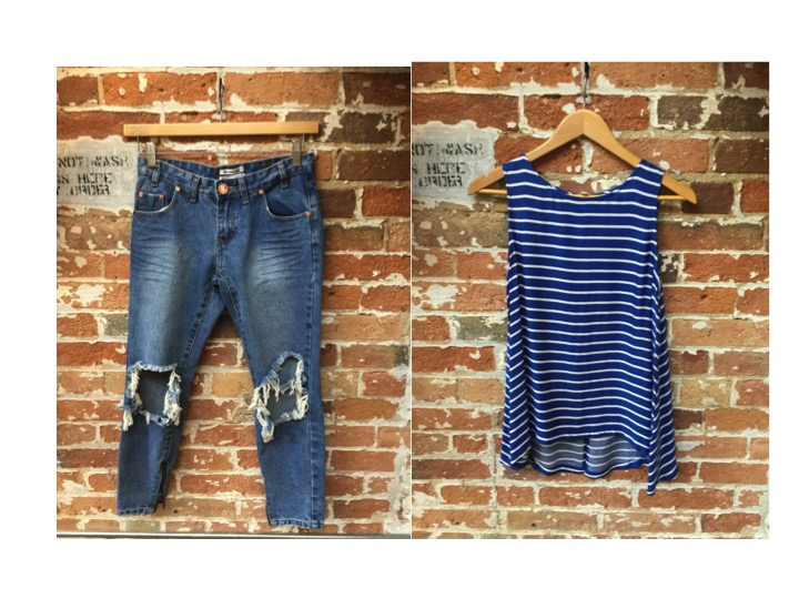 One Teaspoon Jeans $130 Cupcakes & Cashmere Split Back Top $108