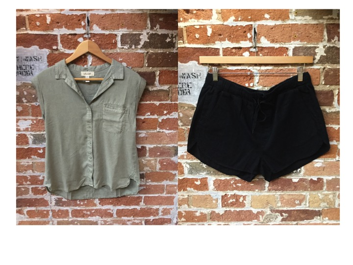 Bella Dahl Short Sleeve Blouse $180 Cheap Monday Shorts $65