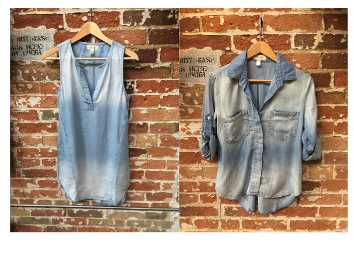 Bella Dahl Chambray Dress $260 Bella Dahl Chambray Shirt $235