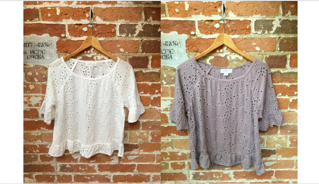 Velvet Eyelet Top (2 Colours) $215