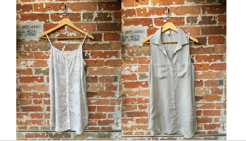 Bella Dahl Snakeskin Dress $190 Bella Dahl Sleeveless Dress $210