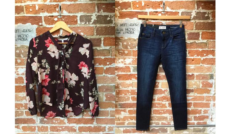 Cupcakes & Cashmere Floral Blouse $138 DL1961 Florence Jeans $265