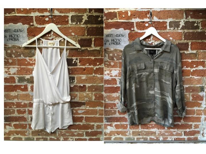 Bella Dahl Romper $225 Rails Camo Shirt $225
