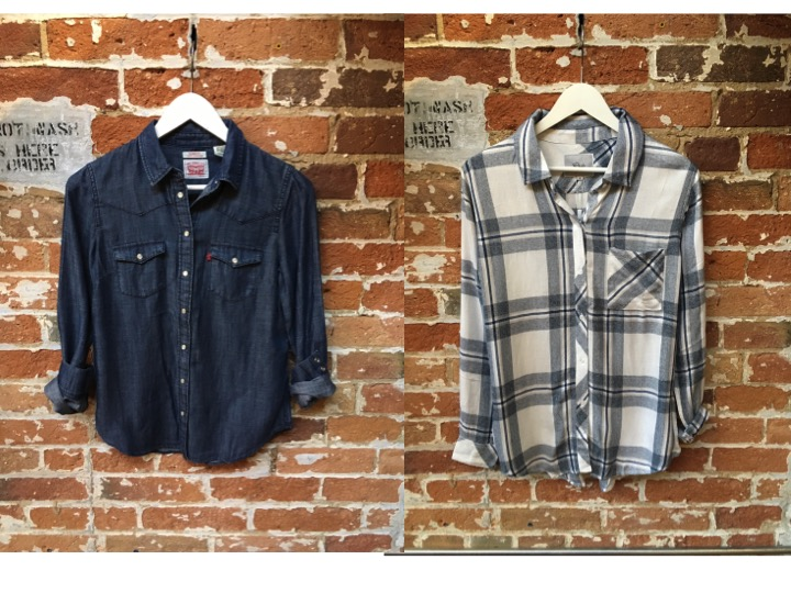 Levi's Denim Button Down $90 Rails Plaid Shirt $215