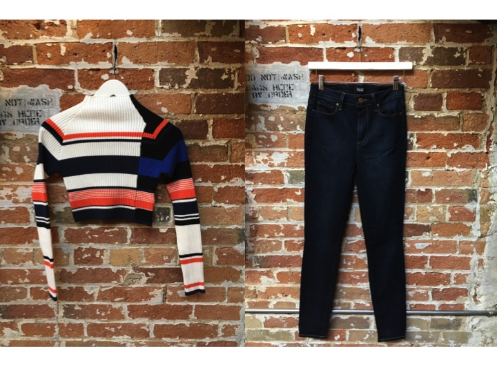 Keepsake Cropped Sweater $220 Paige Margot High Rise Jeans $298