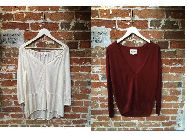 Velvet Boho Top $205 Fine Collection Boyfriend Cardigan $178