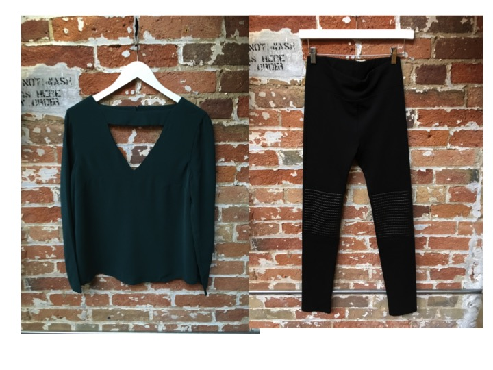Cameo Blouse $205 Dutch Blonde Moto Patch Leggings $118