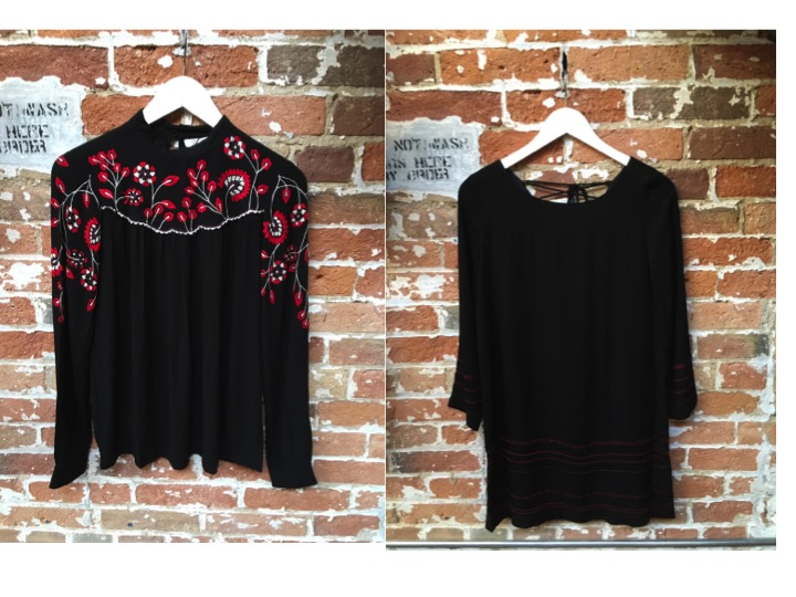 Parker Embroidered Blouse $288 BB Dakota Lace Up Dress $129 *** Staff Favourites!