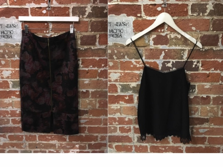 Jesse Rowes Floral Skirt $200 Zadig & Voltaire Silk Camisole $195
