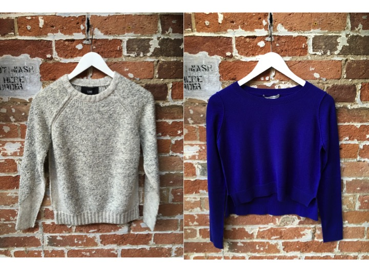 Line Crew Neck Sweater $175 Autumn Cashmere Cropped Cashmere Sweater $330
