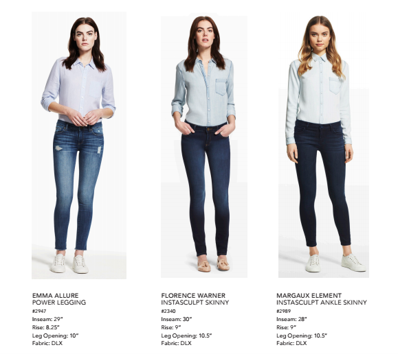 Three styles, Four washes (Emma comes in a black!), Four pairs of new jeans you need.