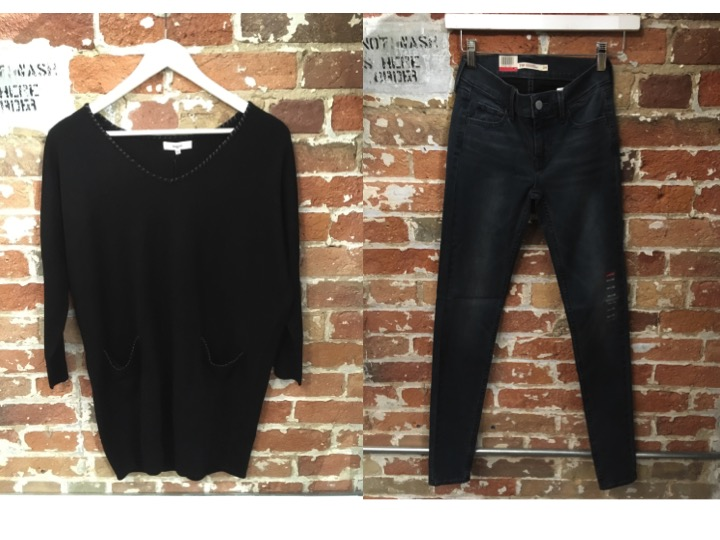 Suncoo Sweater With Leather Details $190 Levi's Skinny Jeans $98