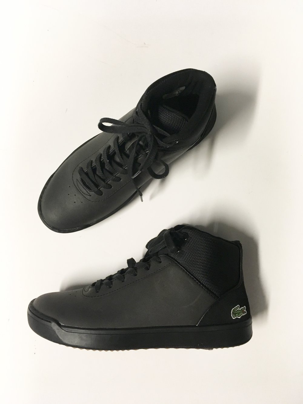 Lacoste also makes a sporty winter shoe so that black ice doesn't ruin all your holiday plans. Grab these black beauties for only $195