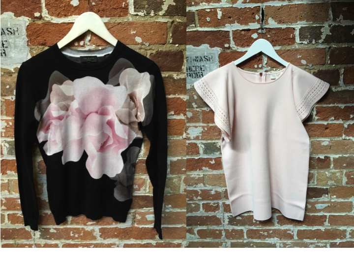 Ted Baker Rose Print Sweater $229 Ted Baker Knit Tee $219