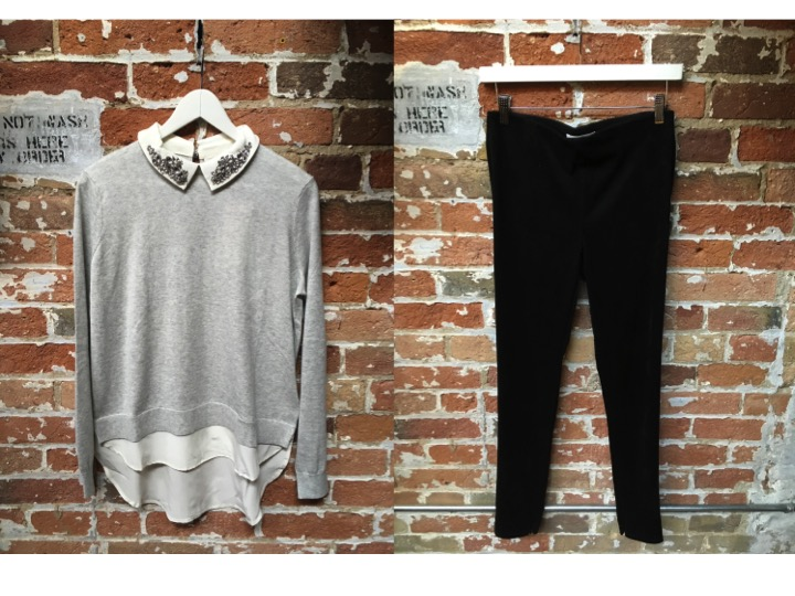 Ted Baker Embellished Sweater $285 DL1961 Emma Black Denim $265