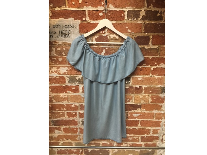 BB Dakota Off The Shoulder Denim Dress $138