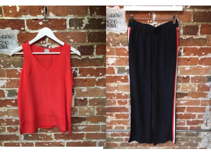 Ecru Silk Tank $178 Ecru Silk Track Pants $288