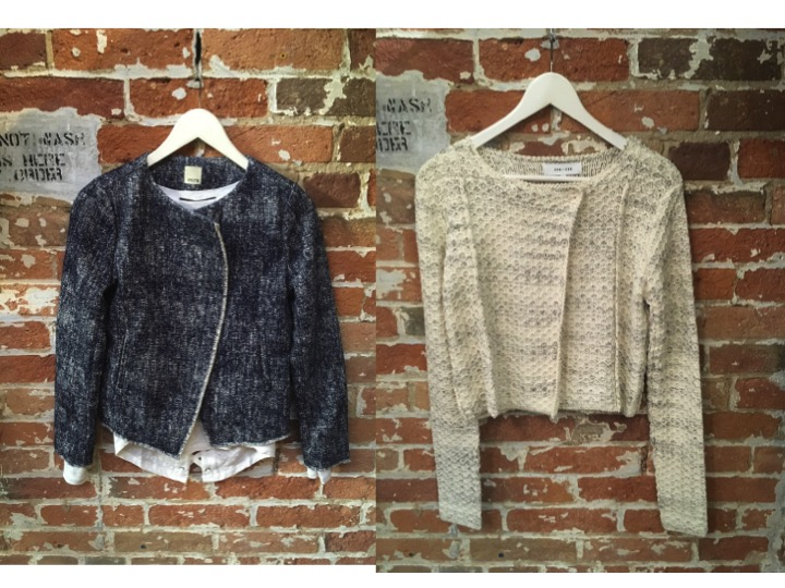 Ecru Jacket $398 Line Knitted Jacket $225