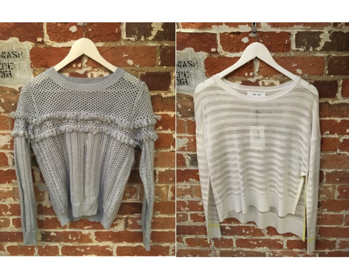 John & Jenn Fringe Sweater $149 John & Jenn Sheer Stripe Sweater $125