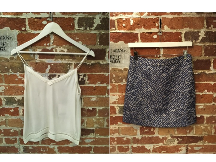 Suncoo Camisole $125 Suncoo Textured Mini Skirt $155