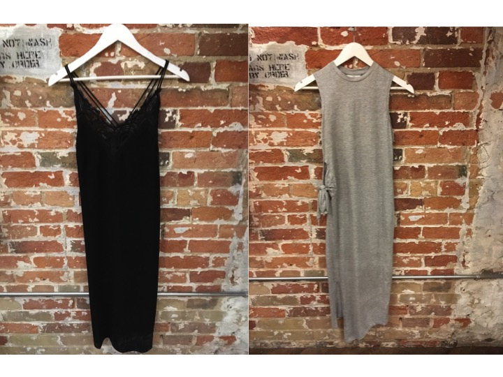 Suncoo Black Midi Dress $225 Cheap Monday Side Tie Dress $70