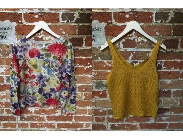 Autumn Cashmere Floral Cashmere Sweater $395 Suncoo Knit Tank $125