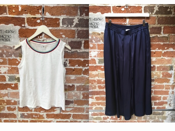Velvet Retro Tank $112 Just Female Wide Leg Pant $168