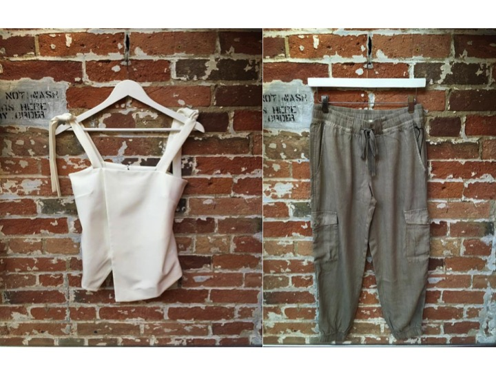 Tiger of Sweden Tie Tank $199 Bella Dahl Joggers $235    **These joggers are so comfy! They also come in a green colour if you need two pairs!