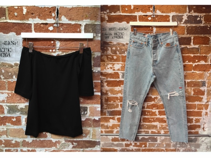Tiger Of Sweden Off The Shoulder Top $139 Levi's Wedgie Jeans $108