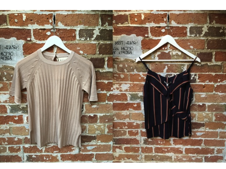 FINE Collection Ribbed Knit Tee $179 Heartloom Striped Camisole $98