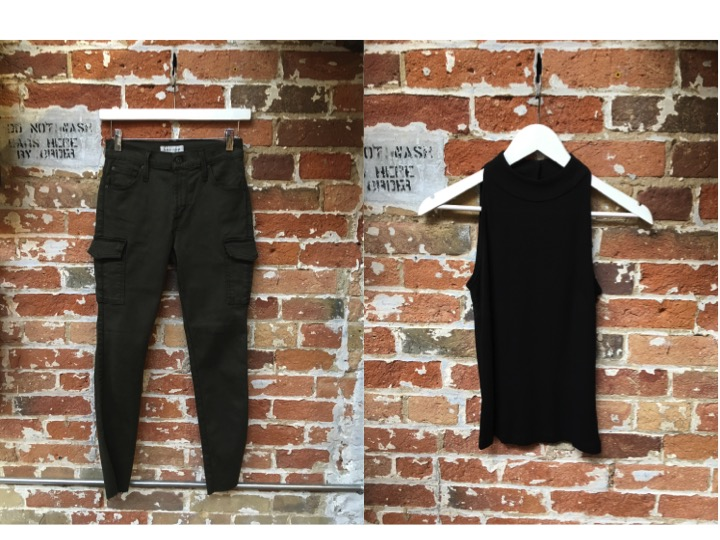 James Jeans Cargo Pant $285 Tiger of Sweden Halter Top $139