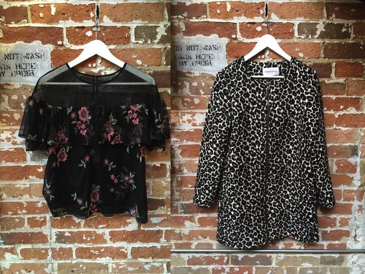 BB Dakota Mesh Floral Top $125 Cupcakes & Cashmere Leopard Jacket $235
