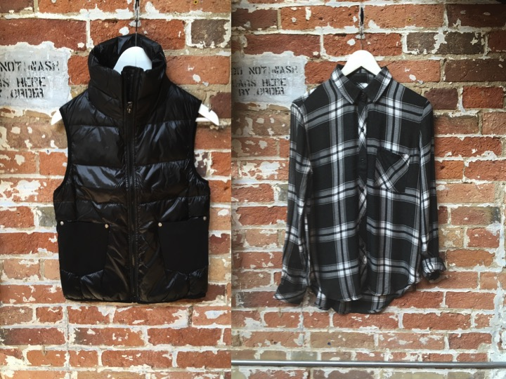 Diesel Denim Pocket Vest $248 ** the detail on this vest is amazing Rails Hunter Plaid $215