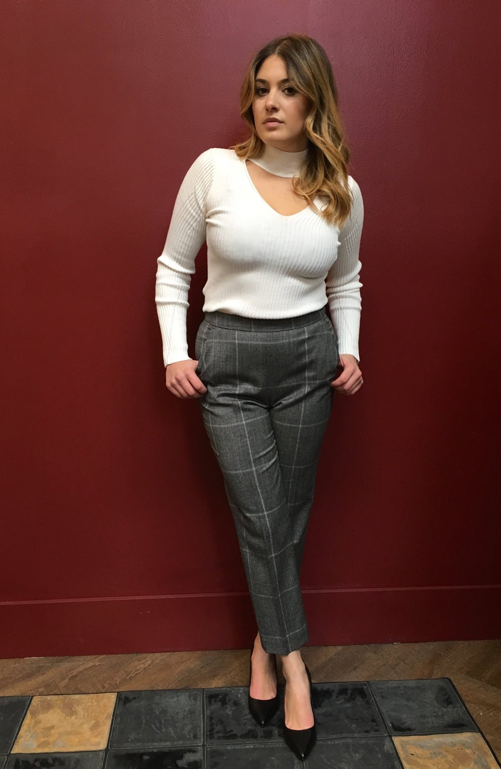 John & Jenn Sweater $149 Tiger of Sweden Wool Pants $299 Tiger of Sweden Leather Heels $249 Go from the office to post work drinks in this outfit