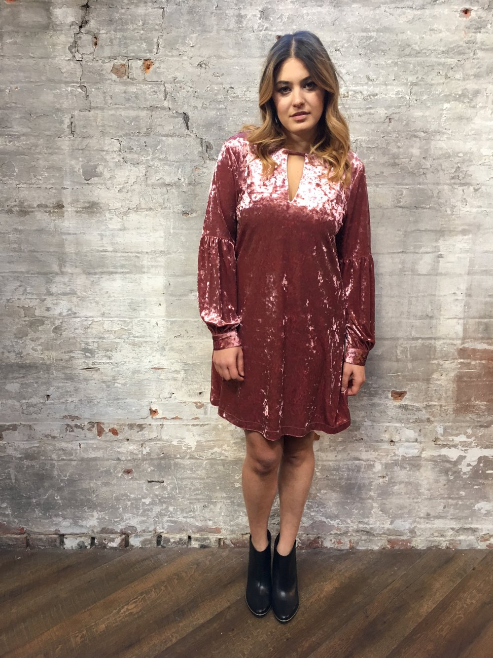 Is it even really the holidays unless you wear Velvet?  Muche et Muchette Crushed Velvet Dress $259