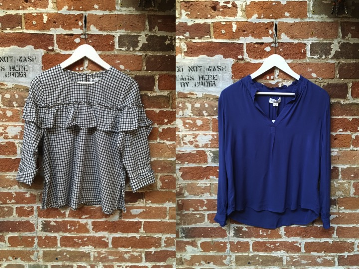 Velvet Cotton Ruffle Blouse $189 Velvet Challis Blouse $140