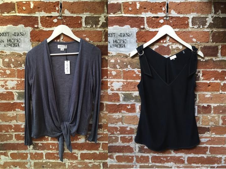 Velvet Wrap Cardigan $162 Ecru Silk Camisole $195