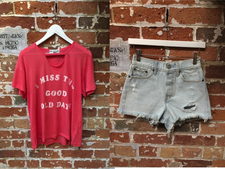 Wildfox Tee $100 Levi's Wedgie Short $80