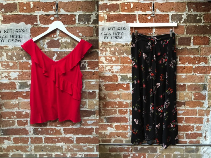 Velvet Ruffle Tank $138 Velvet Long Skirt $240