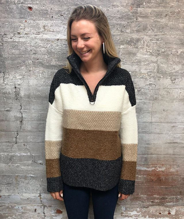 We're not asking for colder weather, but we'll just say we're excited to be able to wear this sweater soon #newarrivals